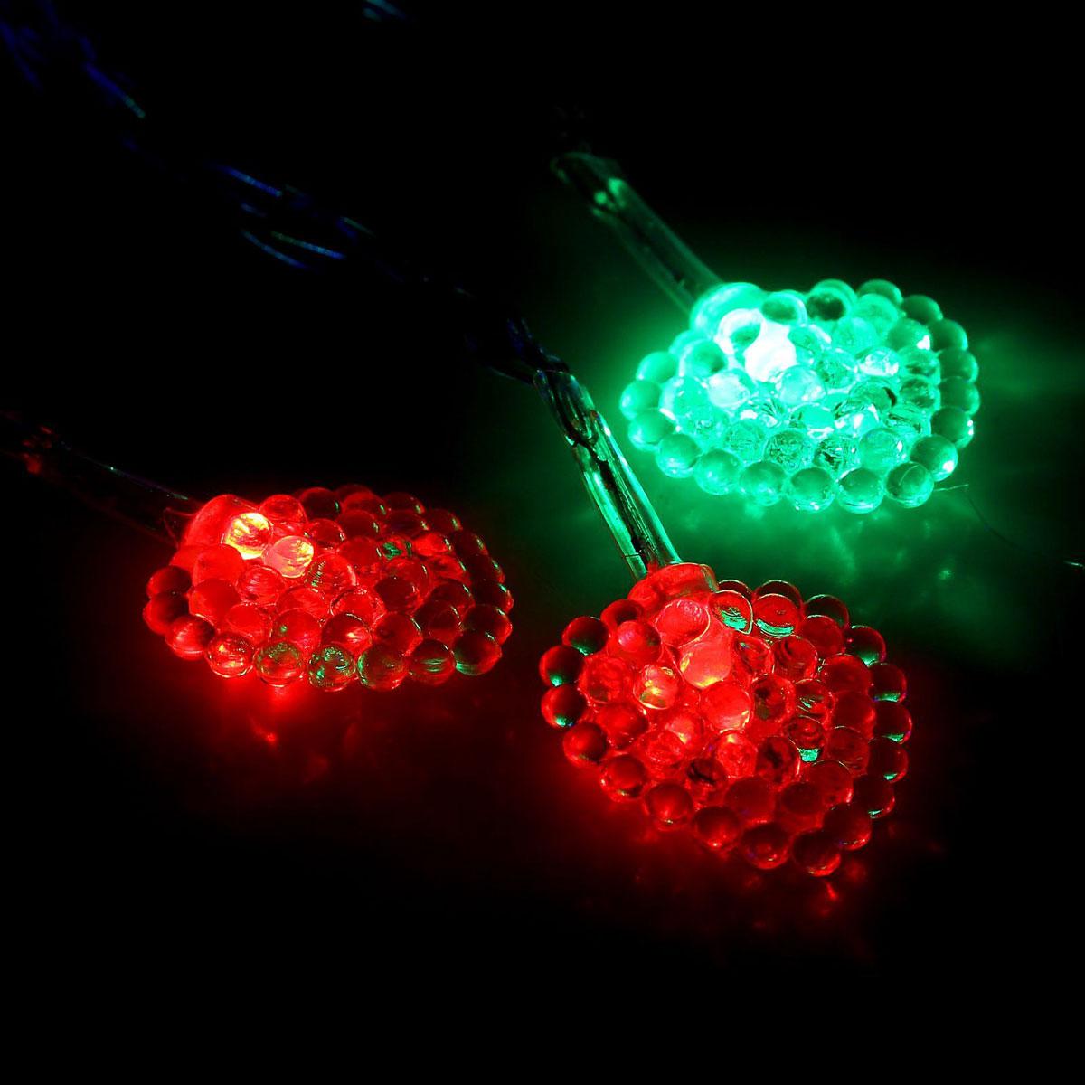 Гирлянда светодиодная Luazon Метраж. Сердце малое, 20 ламп, 5 V, длина 3 м1080379Светодиодные гирлянды и ленты — это отличный вариант для новогоднего оформления интерьера или фасада. С их помощью помещение любого размера можно превратить в праздничный зал, а внешние элементы зданий, украшенные ими, мгновенно станут напоминать очертания сказочного дворца. Такие украшения создают ауру предвкушения чуда. Деревья, фасады, витрины, окна и арки будто специально созданы, чтобы вы украсили их светящимися нитями.