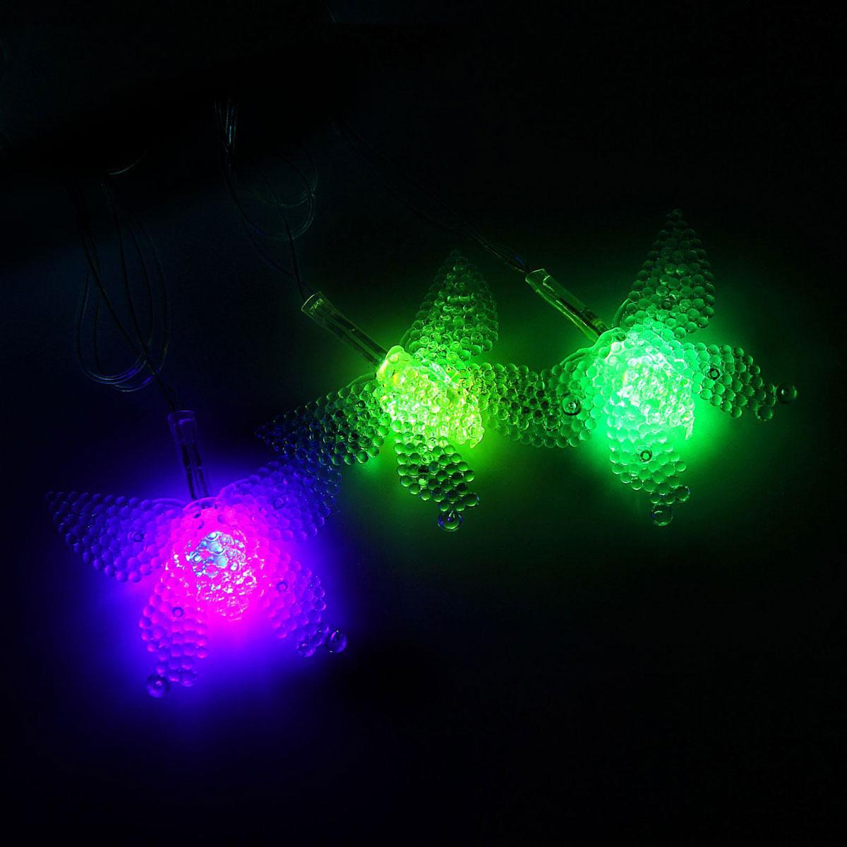 Гирлянда светодиодная Luazon Метраж. Бабочка в крапинку, 20 ламп, 220 V, длина 5 м1080385Светодиодные гирлянды и ленты — это отличный вариант для новогоднего оформления интерьера или фасада. С их помощью помещение любого размера можно превратить в праздничный зал, а внешние элементы зданий, украшенные ими, мгновенно станут напоминать очертания сказочного дворца. Такие украшения создают ауру предвкушения чуда. Деревья, фасады, витрины, окна и арки будто специально созданы, чтобы вы украсили их светящимися нитями.