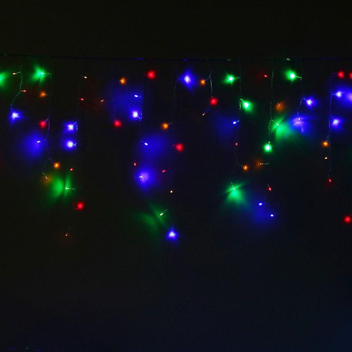 Гирлянда светодиодная Luazon Бахрома, 8 режимов, 299 ламп, 220 V, цвет: мультиколор, 5,2 х 0,6 м. 10804191080419Светодиодные гирлянды, ленты и т.д — это отличный вариант для новогоднего оформления интерьера или фасада. С их помощью помещение любого размера можно превратить в праздничный зал, а внешние элементы зданий, украшенные ими, мгновенно станут напоминать очертания сказочного дворца. Такие украшения создают ауру предвкушения чуда. Деревья, фасады, витрины, окна и арки будто специально созданы, чтобы вы украсили их светящимися нитями.