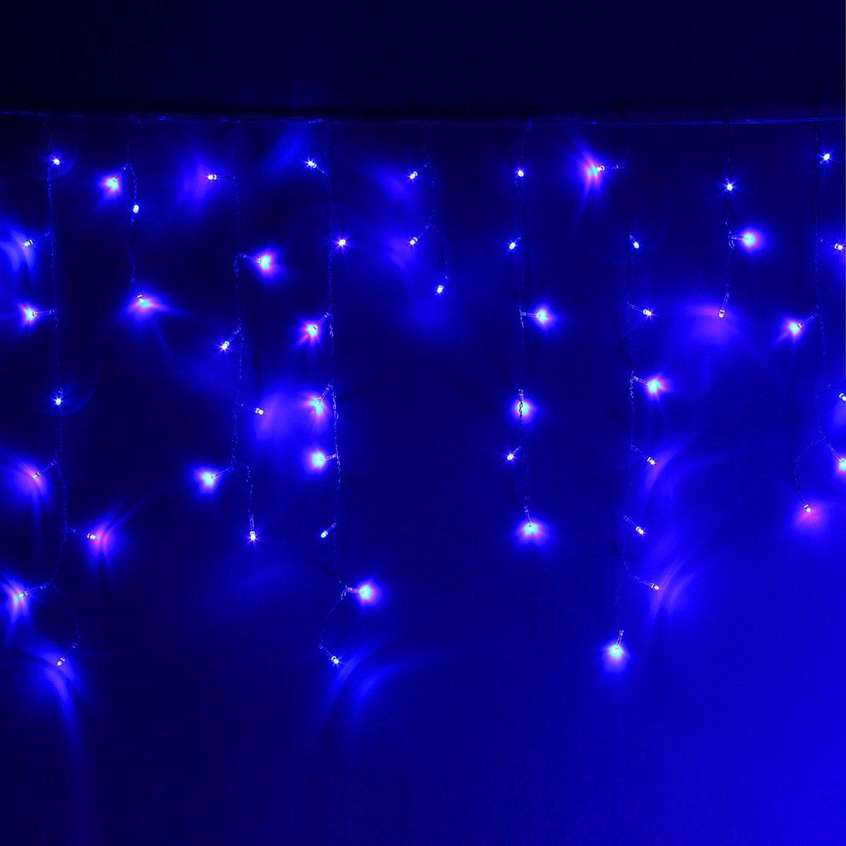 Гирлянда светодиодная Luazon Бахрома, 8 режимов, 299 ламп, 220 V, цвет: синий, 5,2 х 0,6 м. 10804211080421Светодиодные гирлянды, ленты и т.д — это отличный вариант для новогоднего оформления интерьера или фасада. С их помощью помещение любого размера можно превратить в праздничный зал, а внешние элементы зданий, украшенные ими, мгновенно станут напоминать очертания сказочного дворца. Такие украшения создают ауру предвкушения чуда. Деревья, фасады, витрины, окна и арки будто специально созданы, чтобы вы украсили их светящимися нитями.
