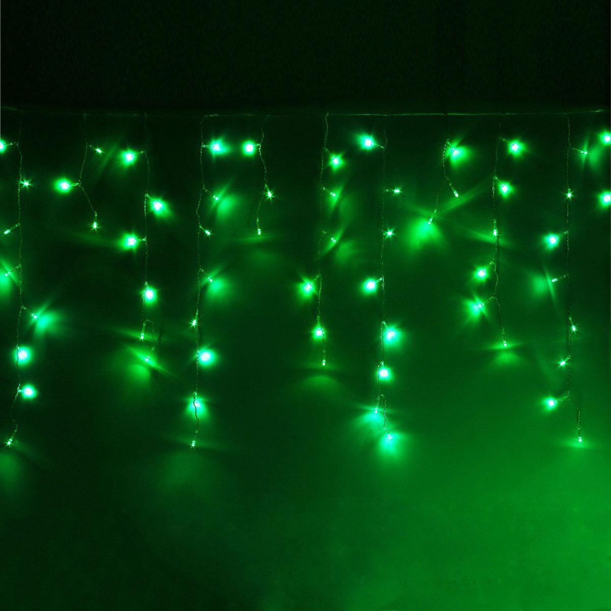 Гирлянда светодиодная Luazon Бахрома, 8 режимов, 299 ламп, 220 V, цвет: зеленый, 5,2 х 0,6 м. 10804234670025843904Светодиодные гирлянды, ленты и т.д — это отличный вариант для новогоднего оформления интерьера или фасада. С их помощью помещение любого размера можно превратить в праздничный зал, а внешние элементы зданий, украшенные ими, мгновенно станут напоминать очертания сказочного дворца. Такие украшения создают ауру предвкушения чуда. Деревья, фасады, витрины, окна и арки будто специально созданы, чтобы вы украсили их светящимися нитями.