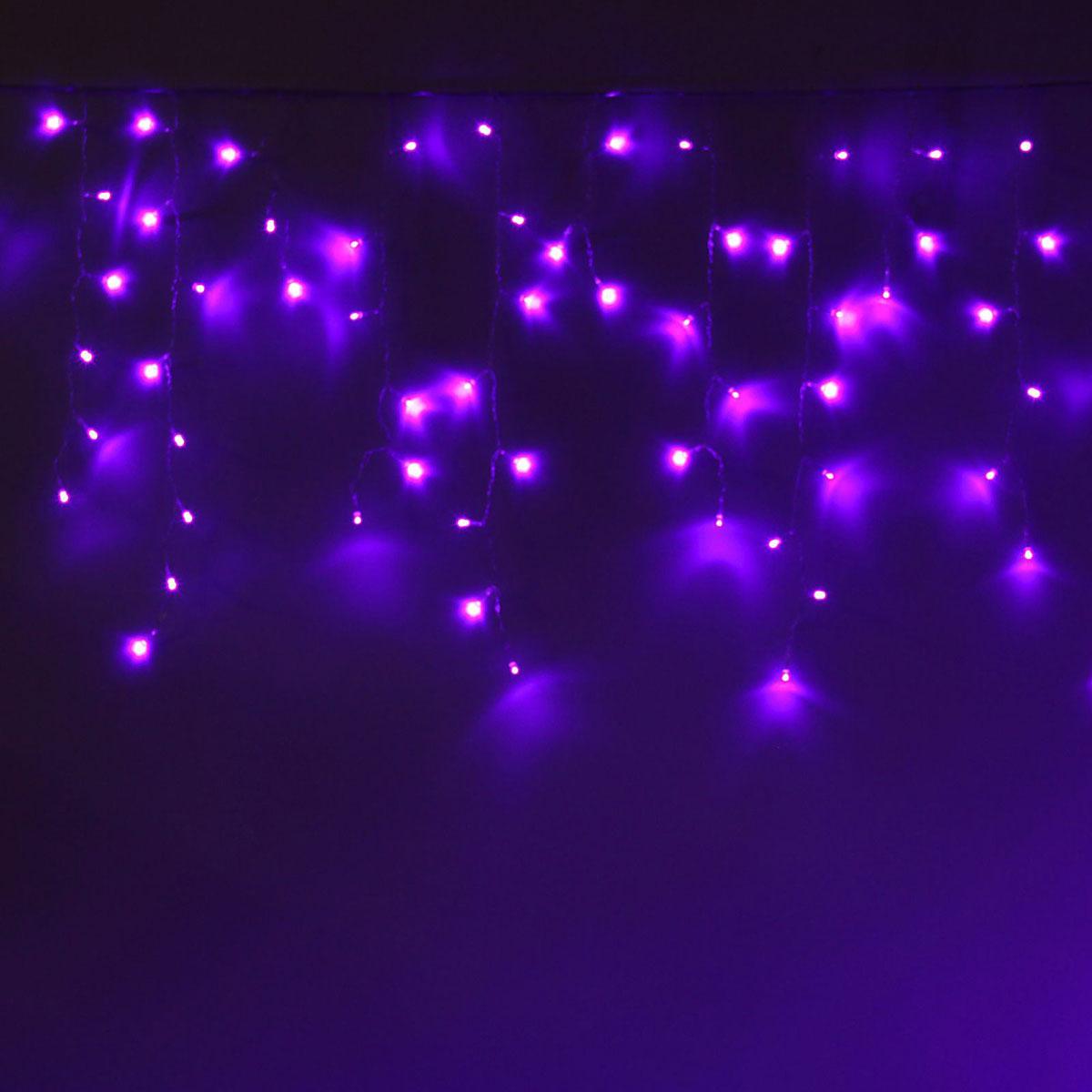 Гирлянда светодиодная Luazon Бахрома, 8 режимов, 299 ламп, 220 V, цвет: фиолетовый, 5,2 х 0,6 м. 10804251080425Светодиодные гирлянды, ленты и т.д — это отличный вариант для новогоднего оформления интерьера или фасада. С их помощью помещение любого размера можно превратить в праздничный зал, а внешние элементы зданий, украшенные ими, мгновенно станут напоминать очертания сказочного дворца. Такие украшения создают ауру предвкушения чуда. Деревья, фасады, витрины, окна и арки будто специально созданы, чтобы вы украсили их светящимися нитями.