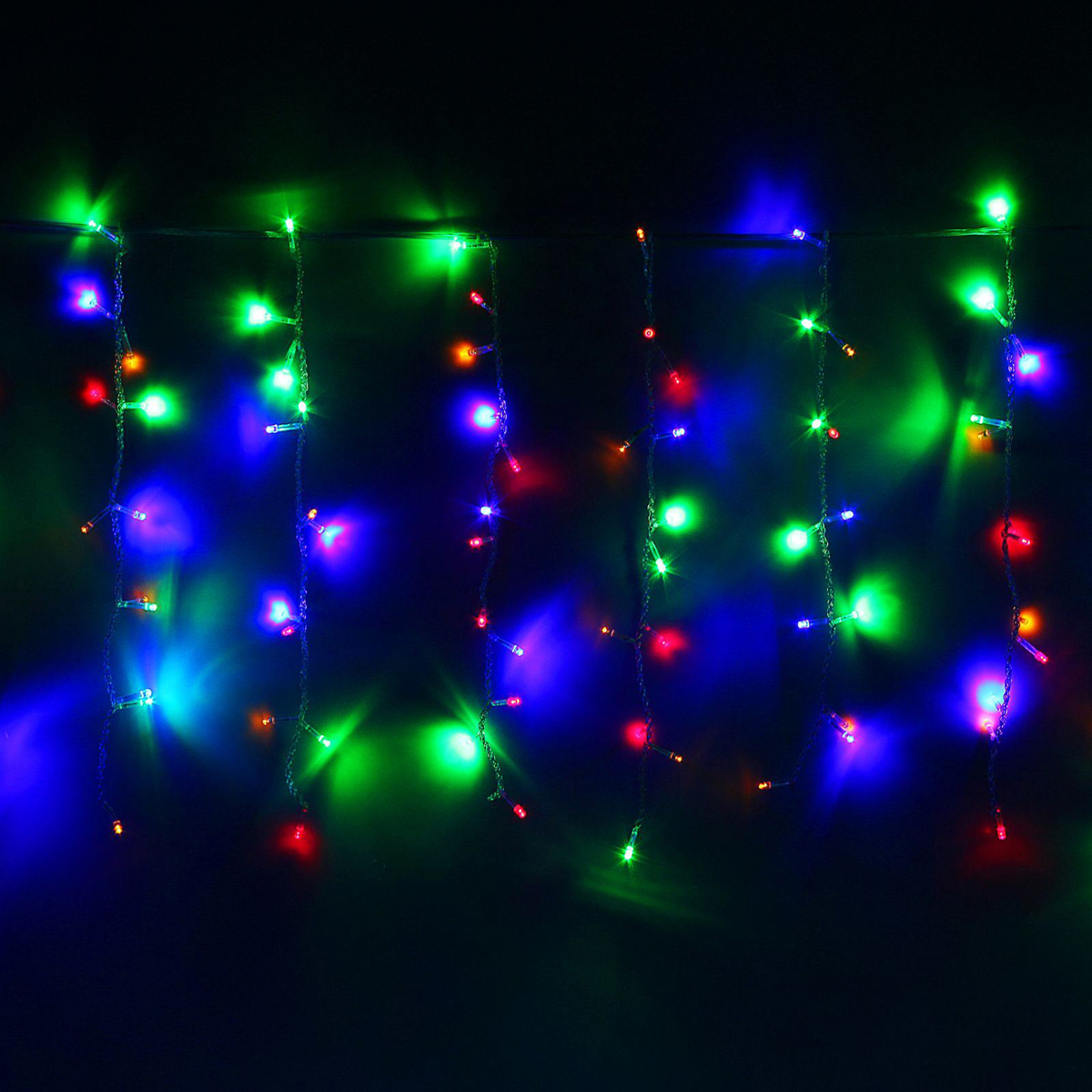 Гирлянда светодиодная Luazon Занавес, цвет: мультиколор, 180 ламп, 8 режимов, 220 V, 1,5 х 1 м. 10804521080452Светодиодные гирлянды и ленты — это отличный вариант для новогоднего оформления интерьера или фасада. С их помощью помещение любого размера можно превратить в праздничный зал, а внешние элементы зданий, украшенные ими, мгновенно станут напоминать очертания сказочного дворца. Такие украшения создают ауру предвкушения чуда. Деревья, фасады, витрины, окна и арки будто специально созданы, чтобы вы украсили их светящимися нитями.