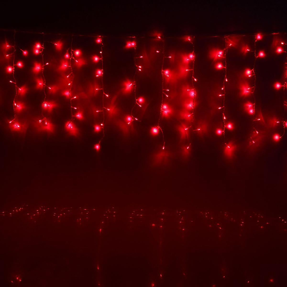 Гирлянда светодиодная Luazon Занавес, цвет: красный, 180 ламп, 8 режимов, 220 V, 1,5 х 1 м. 10804551080455Светодиодные гирлянды и ленты — это отличный вариант для новогоднего оформления интерьера или фасада. С их помощью помещение любого размера можно превратить в праздничный зал, а внешние элементы зданий, украшенные ими, мгновенно станут напоминать очертания сказочного дворца. Такие украшения создают ауру предвкушения чуда. Деревья, фасады, витрины, окна и арки будто специально созданы, чтобы вы украсили их светящимися нитями.