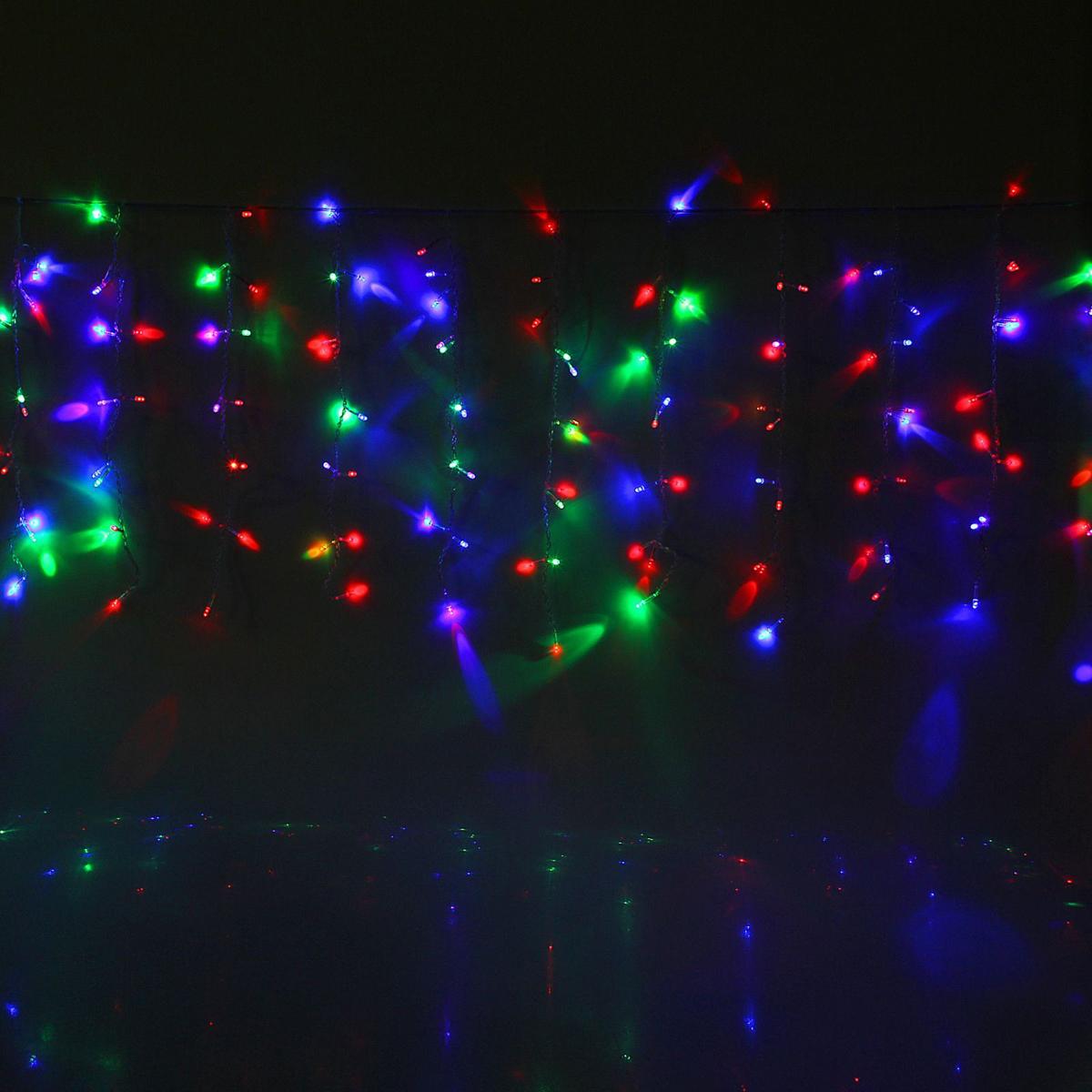 Гирлянда светодиодная Luazon Занавес, цвет: мультиколор, 180 ламп, 220 V, 1,5 х 1 м. 10804591080459Светодиодные гирлянды и ленты — это отличный вариант для новогоднего оформления интерьера или фасада. С их помощью помещение любого размера можно превратить в праздничный зал, а внешние элементы зданий, украшенные ими, мгновенно станут напоминать очертания сказочного дворца. Такие украшения создают ауру предвкушения чуда. Деревья, фасады, витрины, окна и арки будто специально созданы, чтобы вы украсили их светящимися нитями.