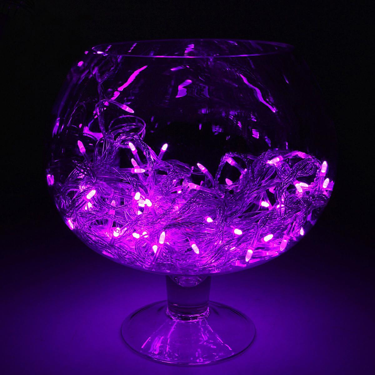 Гирлянда светодиодная Luazon Метраж. Игла, цвет: фиолетовый, 100 ламп, 8 режимов, 220 V, длина 10 м. 10805261080526Светодиодные гирлянды и ленты — это отличный вариант для новогоднего оформления интерьера или фасада. С их помощью помещение любого размера можно превратить в праздничный зал, а внешние элементы зданий, украшенные ими, мгновенно станут напоминать очертания сказочного дворца. Такие украшения создают ауру предвкушения чуда. Деревья, фасады, витрины, окна и арки будто специально созданы, чтобы вы украсили их светящимися нитями.