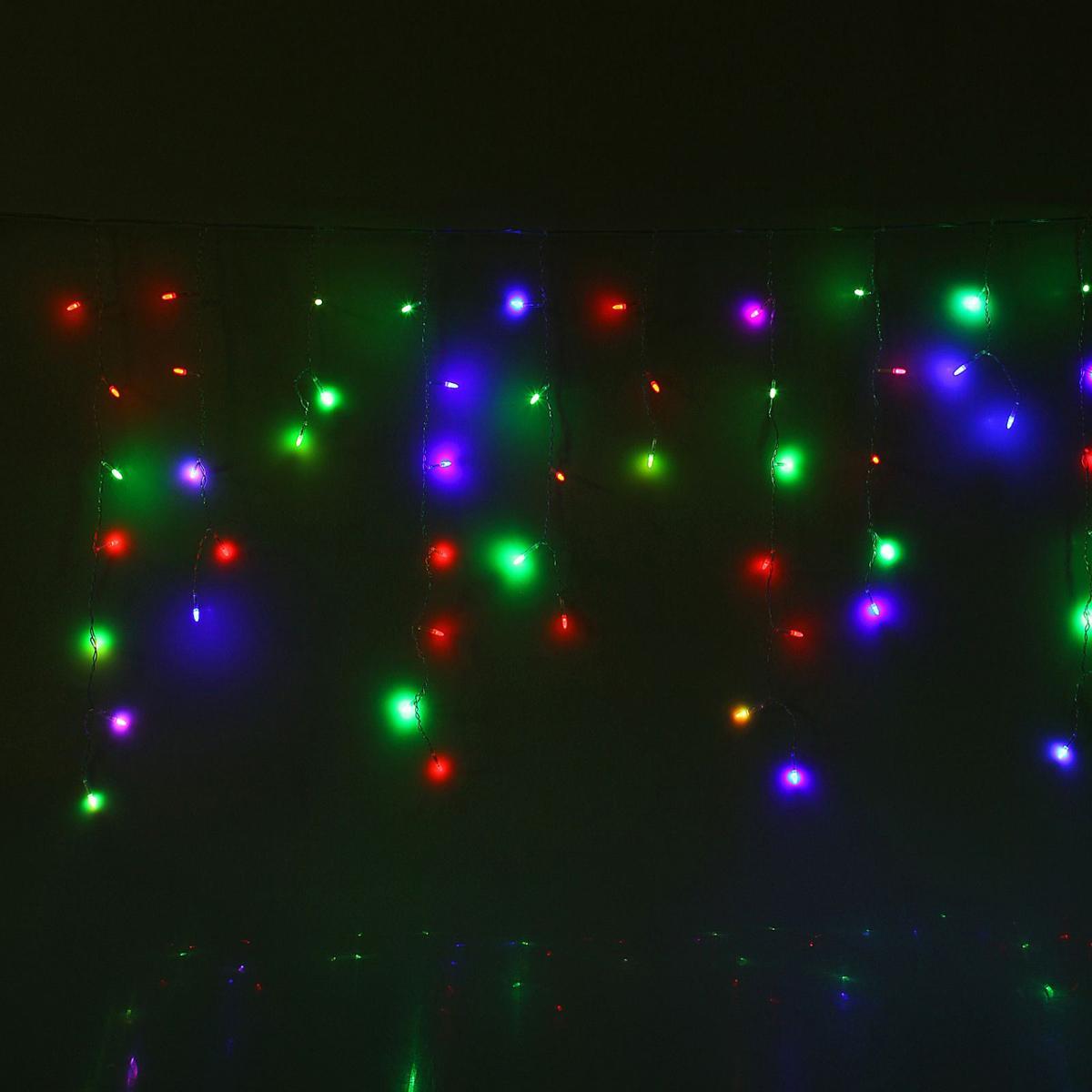Гирлянда светодиодная Luazon Бахрома. Игла, моргающая, 60 ламп, 220 V, цвет: мультиколор, 1,2 х 0,6 м. 10805371431267Светодиодные гирлянды, ленты и т.д — это отличный вариант для новогоднего оформления интерьера или фасада. С их помощью помещение любого размера можно превратить в праздничный зал, а внешние элементы зданий, украшенные ими, мгновенно станут напоминать очертания сказочного дворца. Такие украшения создают ауру предвкушения чуда. Деревья, фасады, витрины, окна и арки будто специально созданы, чтобы вы украсили их светящимися нитями.