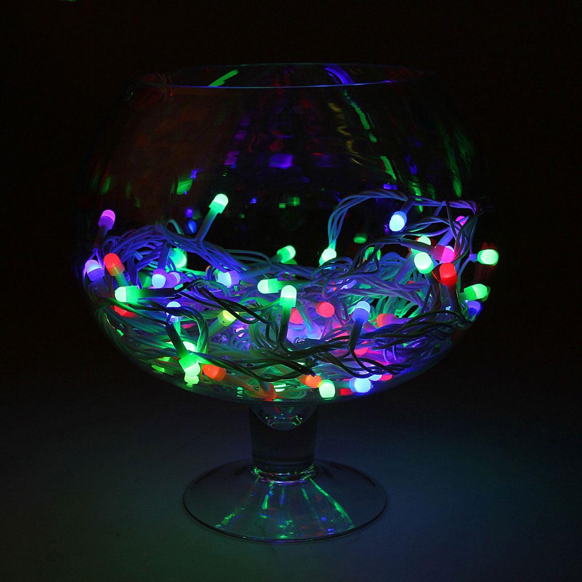 Гирлянда светодиодная Luazon Метраж, уличная, моргает, 100 ламп, 220 V, 10 м, цвет: мультиколор. 1080547