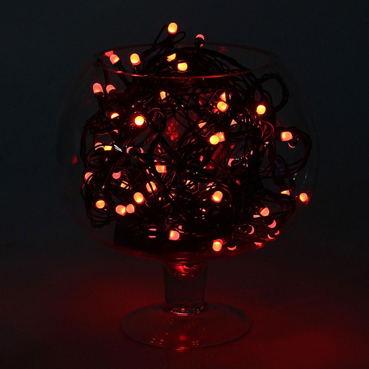 Гирлянда светодиодная Luazon Метраж, уличная, 8 режимов, 100 ламп, 220 V, 10 м, цвет: красный. 10805531080553Светодиодные гирлянды, ленты и т.д. — это отличный вариант для новогоднего оформления интерьера или фасада. С их помощью помещение любого размера можно превратить в праздничный зал, а внешние элементы зданий, украшенные ими, мгновенно станут напоминать очертания сказочного дворца. Такие украшения создают ауру предвкушения чуда. Деревья, фасады, витрины, окна и арки будто специально созданы, чтобы вы украсили их светящимися нитями.