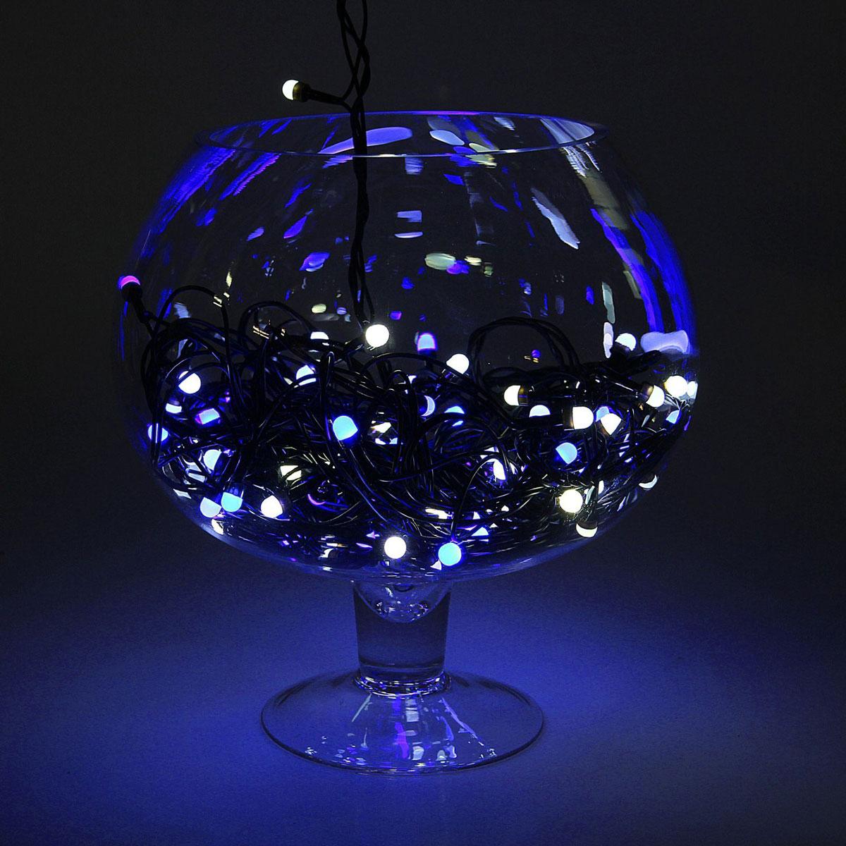 Гирлянда светодиодная Luazon Метраж, уличная, моргает, 100 ламп, 220 V, 10 м, цвет: синий. 10805591080559Светодиодные гирлянды, ленты и т.д. — это отличный вариант для новогоднего оформления интерьера или фасада. С их помощью помещение любого размера можно превратить в праздничный зал, а внешние элементы зданий, украшенные ими, мгновенно станут напоминать очертания сказочного дворца. Такие украшения создают ауру предвкушения чуда. Деревья, фасады, витрины, окна и арки будто специально созданы, чтобы вы украсили их светящимися нитями.