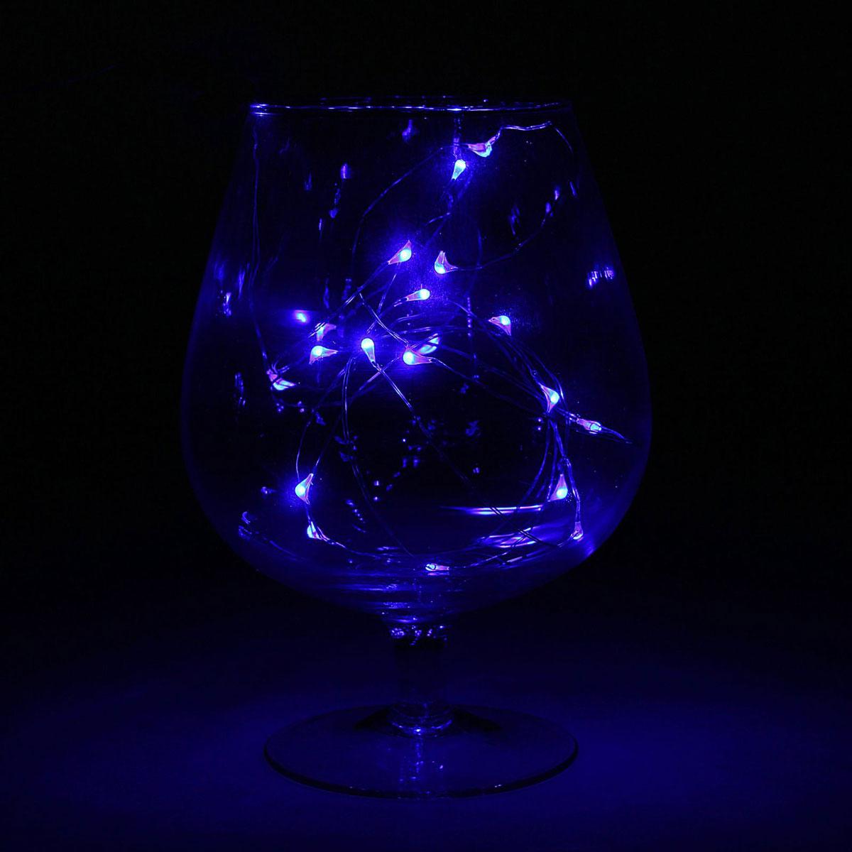 Гирлянда светодиодная Luazon Метраж. Капля росы, цвет: синий, 20 ламп, 2 режима, 3,6 V, длина 2 м. 10805821080582Светодиодные гирлянды и ленты — это отличный вариант для новогоднего оформления интерьера или фасада. С их помощью помещение любого размера можно превратить в праздничный зал, а внешние элементы зданий, украшенные ими, мгновенно станут напоминать очертания сказочного дворца. Такие украшения создают ауру предвкушения чуда. Деревья, фасады, витрины, окна и арки будто специально созданы, чтобы вы украсили их светящимися нитями.
