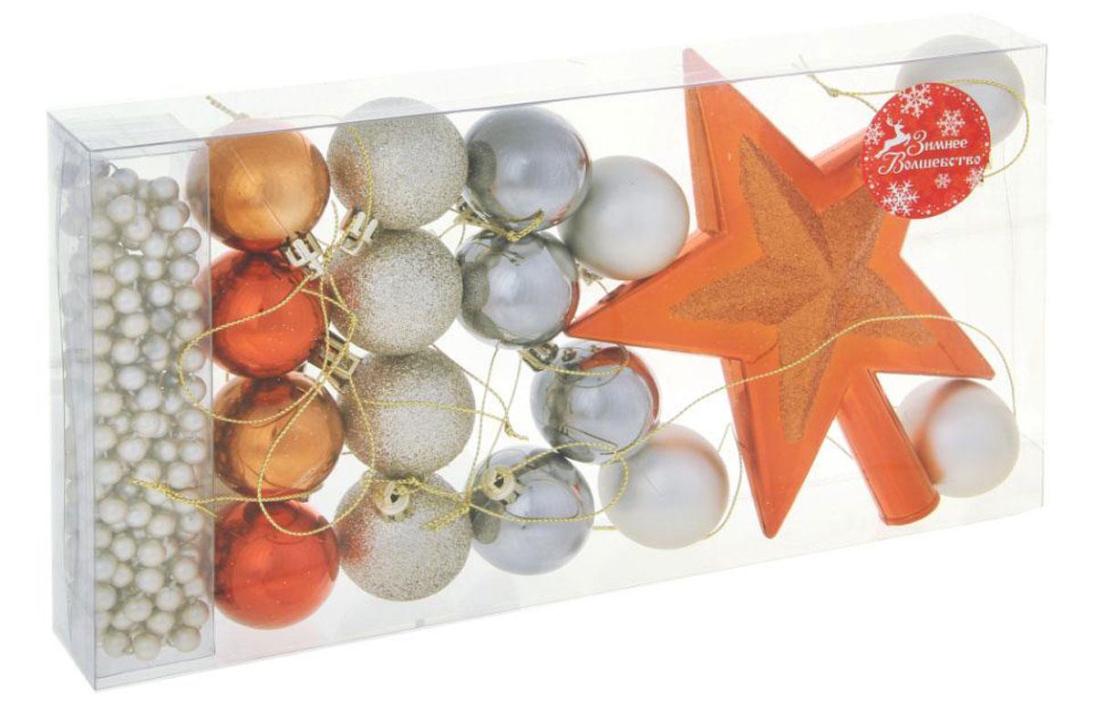 Набор новогодних подвесных украшений Sima-land С звездой, 18 шт1310288Набор новогодних подвесных украшений Sima-land отлично подойдет для декорации вашего дома и новогодней ели. С помощью специальной петельки украшение можно повесить в любом понравившемся вам месте. Но, конечно, удачнее всего оно будет смотреться на праздничной елке. Елочная игрушка - символ Нового года. Она несет в себе волшебство и красоту праздника. Создайте в своем доме атмосферу веселья и радости, украшая новогоднюю елку нарядными игрушками, которые будут из года в год накапливать теплоту воспоминаний. Набор состоит из 18 елочных украшений, выполненных из пластика в виде шаров и звезды.