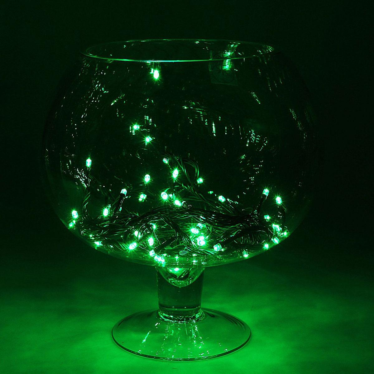 Гирлянда светодиодная Luazon Метраж, цвет: зеленый, 180 ламп, 8 режимов, 220 V, длина 15 м. 15857791585779Светодиодные гирлянды и ленты — это отличный вариант для новогоднего оформления интерьера или фасада. С их помощью помещение любого размера можно превратить в праздничный зал, а внешние элементы зданий, украшенные ими, мгновенно станут напоминать очертания сказочного дворца. Такие украшения создают ауру предвкушения чуда. Деревья, фасады, витрины, окна и арки будто специально созданы, чтобы вы украсили их светящимися нитями.