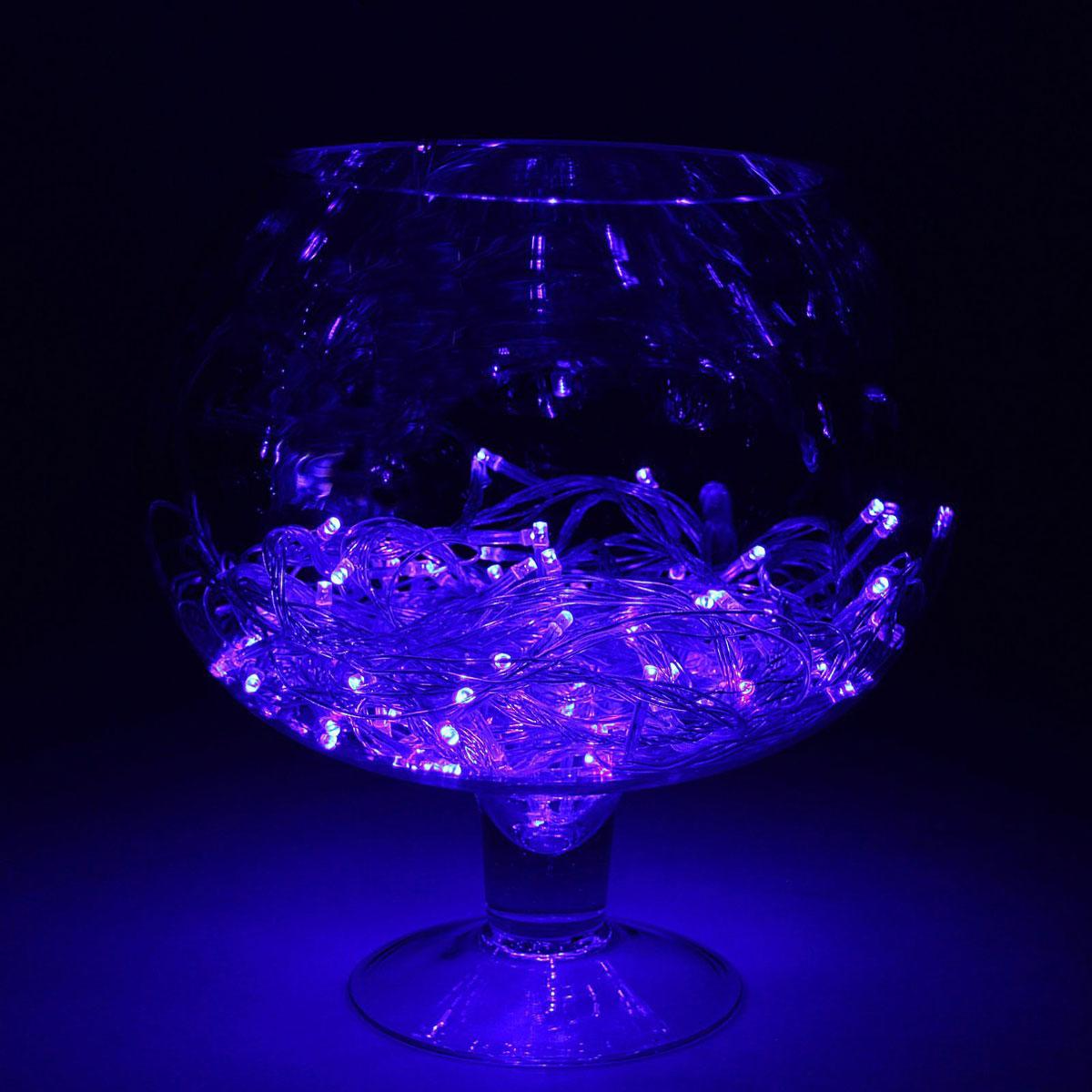 Гирлянда светодиодная Luazon Метраж, цвет: синий, 180 ламп, 8 режимов, 220 V, длина 15 м. 1585784 гирлянда luazon дождь 2m 6m multicolor 671678