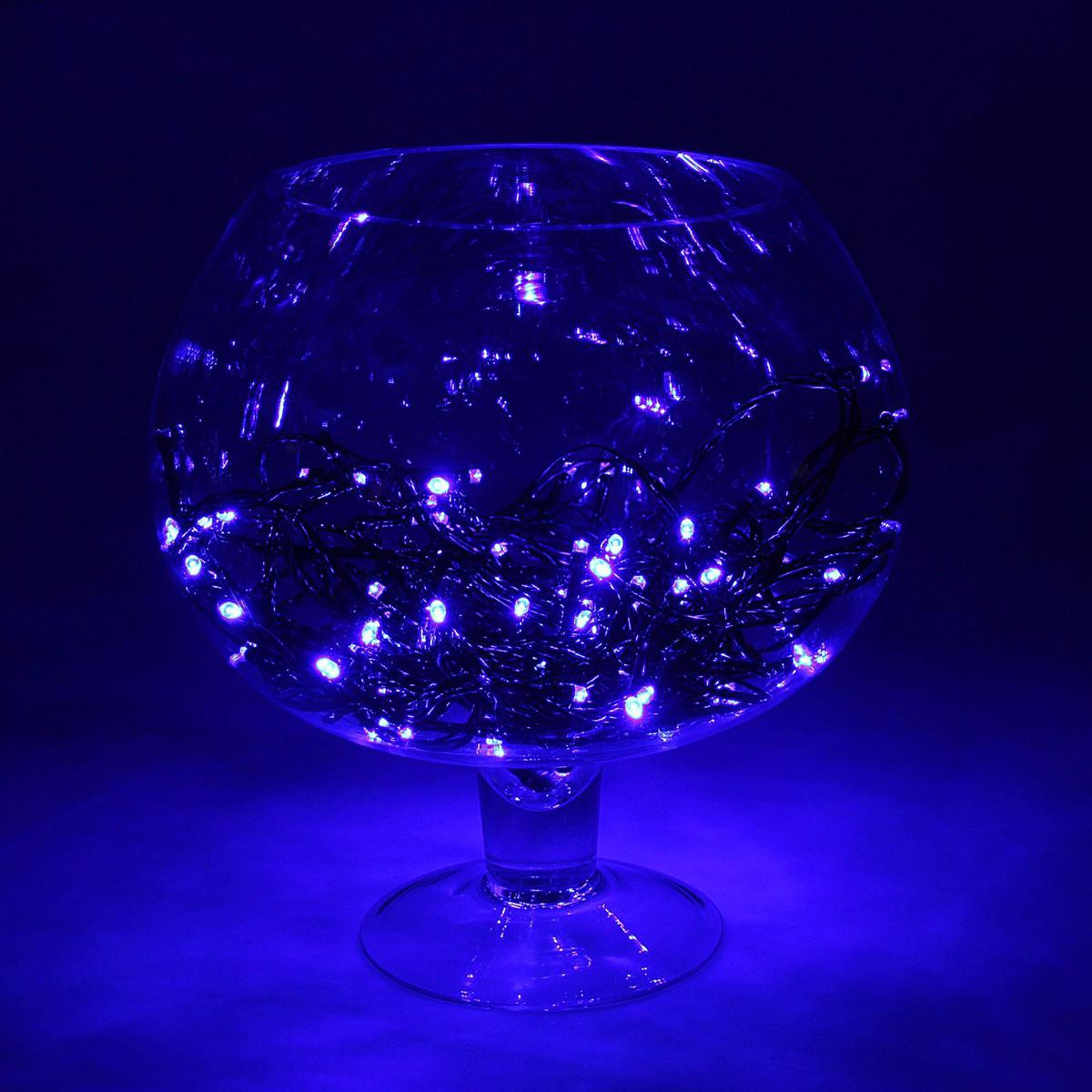 Гирлянда светодиодная Luazon Метраж, уличная, мерцание, 100 ламп, 24 V, 10 м, цвет: синий. 15860091586009Светодиодные гирлянды, ленты и т.д. — это отличный вариант для новогоднего оформления интерьера или фасада. С их помощью помещение любого размера можно превратить в праздничный зал, а внешние элементы зданий, украшенные ими, мгновенно станут напоминать очертания сказочного дворца. Такие украшения создают ауру предвкушения чуда. Деревья, фасады, витрины, окна и арки будто специально созданы, чтобы вы украсили их светящимися нитями.