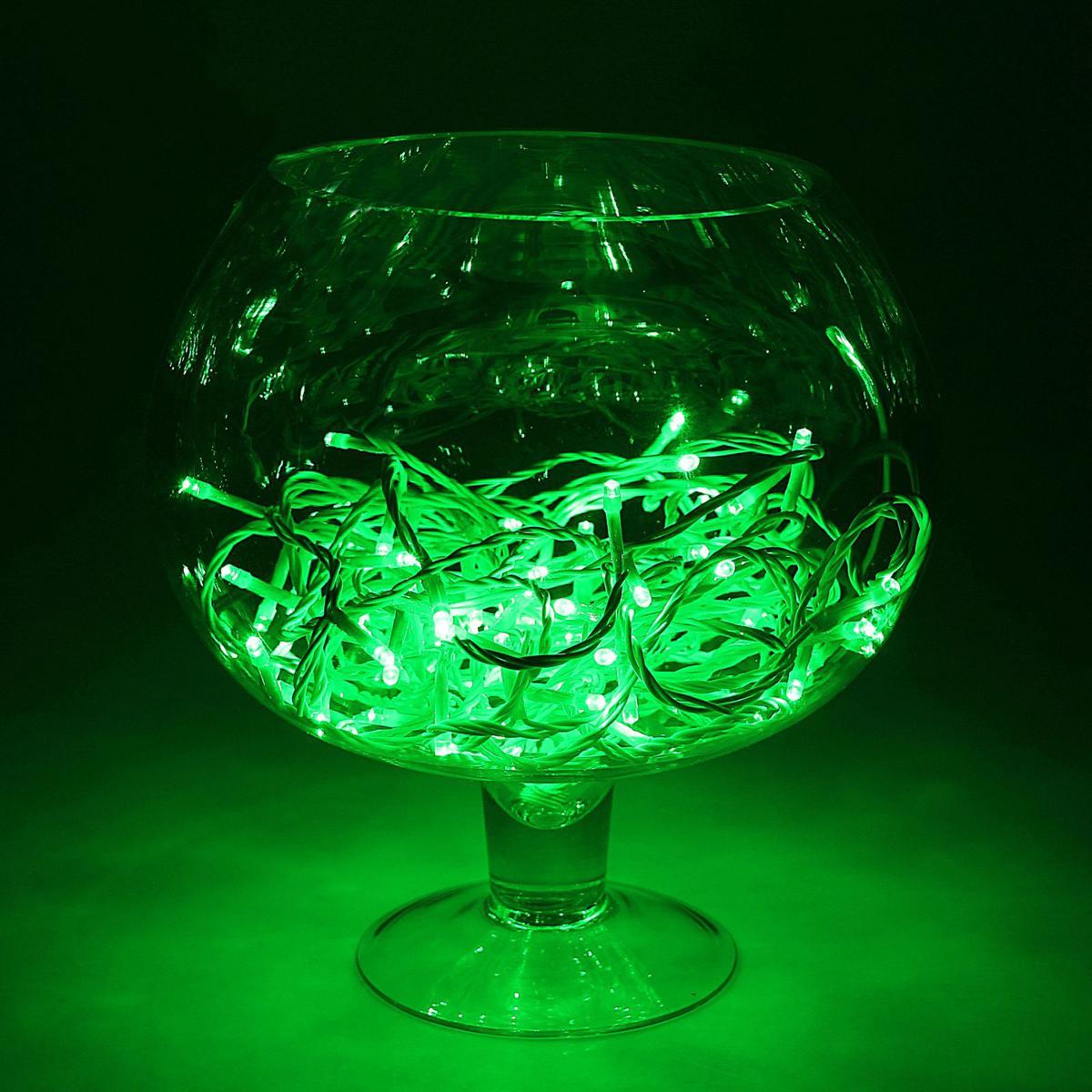 Гирлянда светодиодная Luazon Метраж, уличная, 100 ламп, 24 V, 10 м, цвет: зеленый. 1586015
