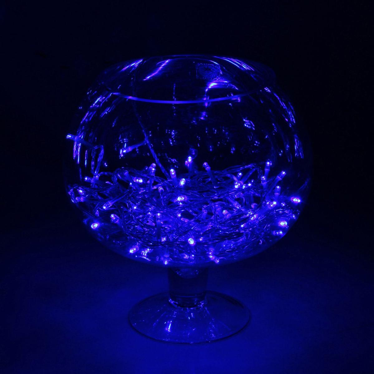 Гирлянда светодиодная Luazon Метраж, уличная, 100 ламп, 24 V, 10 м, цвет: синий. 15860251586025Светодиодные гирлянды, ленты и т.д. — это отличный вариант для новогоднего оформления интерьера или фасада. С их помощью помещение любого размера можно превратить в праздничный зал, а внешние элементы зданий, украшенные ими, мгновенно станут напоминать очертания сказочного дворца. Такие украшения создают ауру предвкушения чуда. Деревья, фасады, витрины, окна и арки будто специально созданы, чтобы вы украсили их светящимися нитями.