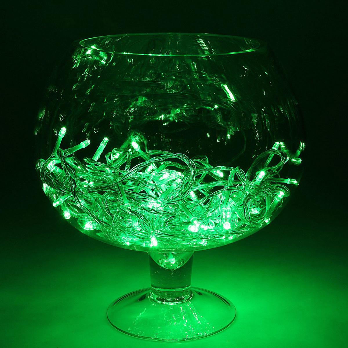 Гирлянда светодиодная Luazon Метраж, уличная, 100 ламп, 24 V, 10 м, цвет: зеленый. 1586026