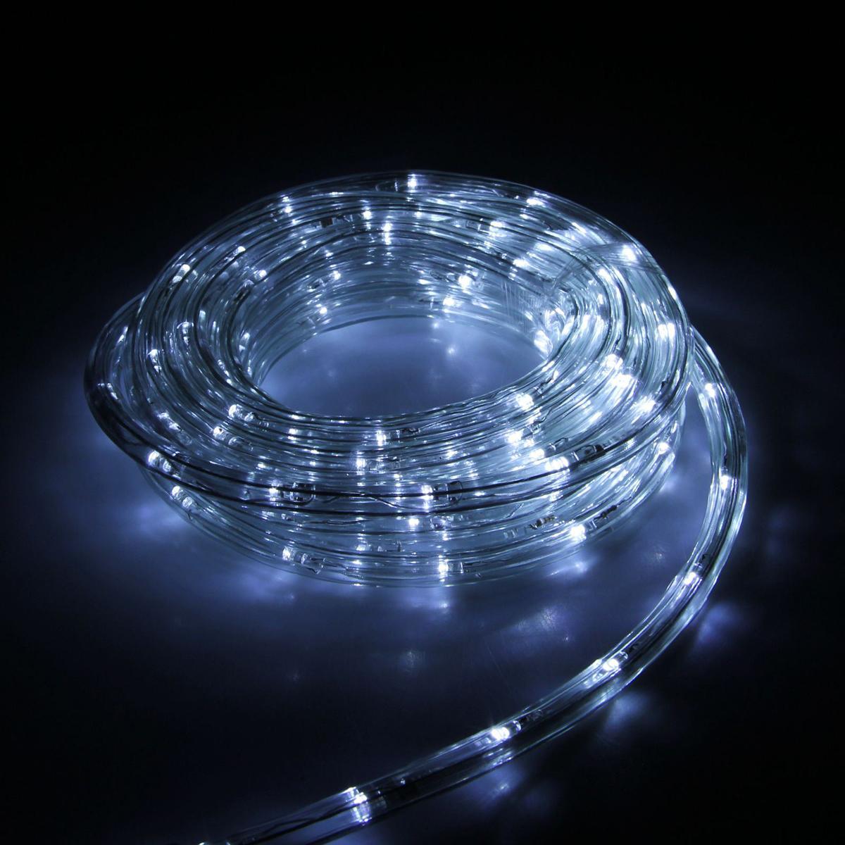 Гирлянда светодиодная Luazon, 240 ламп, 8 режимов, 220 V, цвет: белый, 1 см х 10 м. 15898251589825Светодиодные гирлянды, ленты и т.д — это отличный вариант для новогоднего оформления интерьера или фасада. С их помощью помещение любого размера можно превратить в праздничный зал, а внешние элементы зданий, украшенные ими, мгновенно станут напоминать очертания сказочного дворца. Такие украшения создают ауру предвкушения чуда. Деревья, фасады, витрины, окна и арки будто специально созданы, чтобы вы украсили их светящимися нитями.