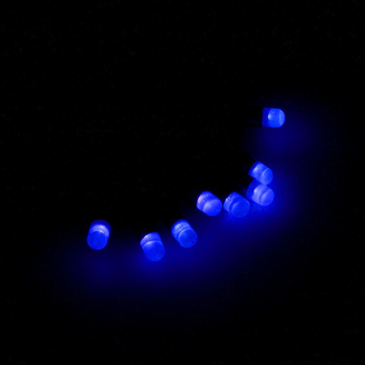 Гирлянда светодиодная Luazon Метраж. Лампочки, уличная с насадкой, 8 режимов, 40 ламп, 220 V, 5 м, цвет: синий. 185526185526Светодиодные гирлянды, ленты и т.д. — это отличный вариант для новогоднего оформления интерьера или фасада. С их помощью помещение любого размера можно превратить в праздничный зал, а внешние элементы зданий, украшенные ими, мгновенно станут напоминать очертания сказочного дворца. Такие украшения создают ауру предвкушения чуда. Деревья, фасады, витрины, окна и арки будто специально созданы, чтобы вы украсили их светящимися нитями.