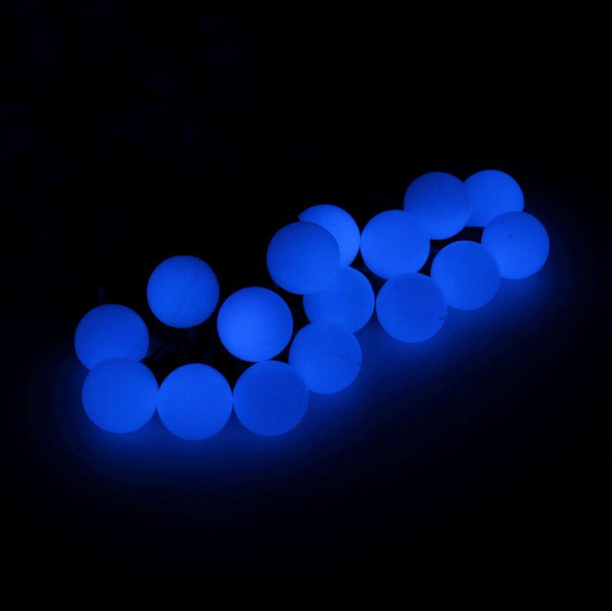 Гирлянда светодиодная Luazon Метраж. Шарики большие, уличная с насадкой, 8 режимов, 100 ламп, 220 V, 10 м, цвет: синий. 185540185540Светодиодные гирлянды, ленты и т.д. — это отличный вариант для новогоднего оформления интерьера или фасада. С их помощью помещение любого размера можно превратить в праздничный зал, а внешние элементы зданий, украшенные ими, мгновенно станут напоминать очертания сказочного дворца. Такие украшения создают ауру предвкушения чуда. Деревья, фасады, витрины, окна и арки будто специально созданы, чтобы вы украсили их светящимися нитями.