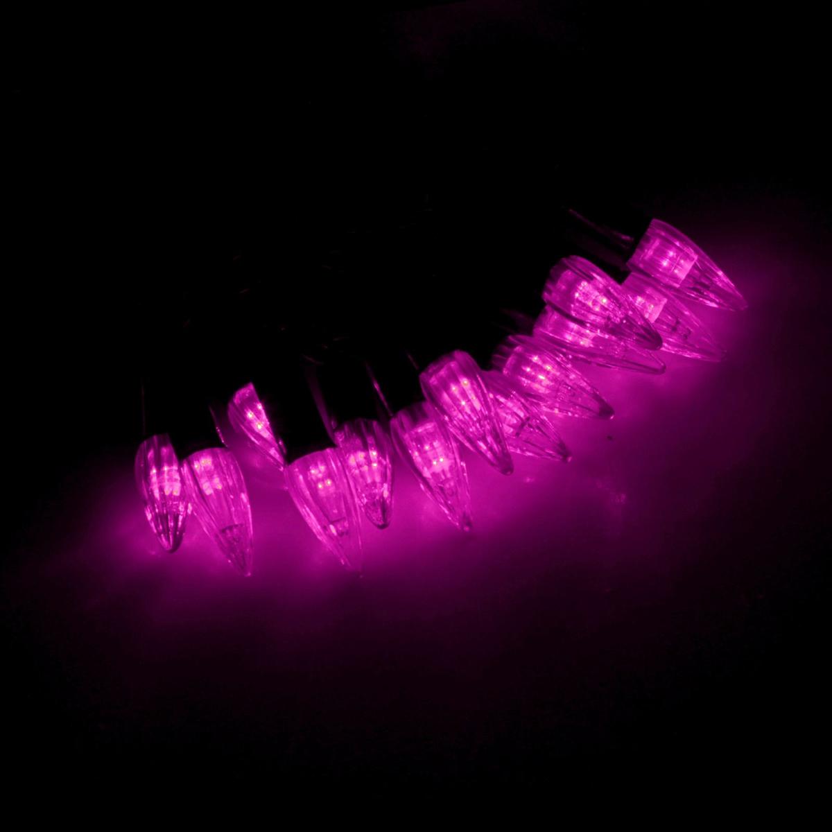 Гирлянда светодиодная Luazon Метраж. Свечки, уличная с насадкой, фиксинг, 40 ламп, 220 V, 5 м, цвет: розовый. 1855544670025843928Светодиодные гирлянды, ленты и т.д. — это отличный вариант для новогоднего оформления интерьера или фасада. С их помощью помещение любого размера можно превратить в праздничный зал, а внешние элементы зданий, украшенные ими, мгновенно станут напоминать очертания сказочного дворца. Такие украшения создают ауру предвкушения чуда. Деревья, фасады, витрины, окна и арки будто специально созданы, чтобы вы украсили их светящимися нитями.