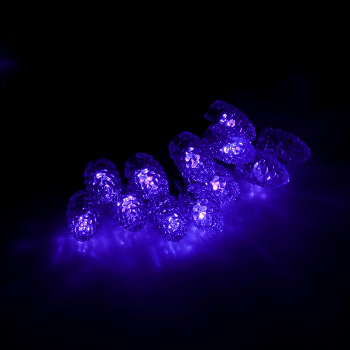 Гирлянда светодиодная Luazon Метраж. Шишки, уличная с насадкой, фиксинг, 40 ламп, 220 V, 5 м, цвет: синий. 185558185558Светодиодные гирлянды, ленты и т.д. — это отличный вариант для новогоднего оформления интерьера или фасада. С их помощью помещение любого размера можно превратить в праздничный зал, а внешние элементы зданий, украшенные ими, мгновенно станут напоминать очертания сказочного дворца. Такие украшения создают ауру предвкушения чуда. Деревья, фасады, витрины, окна и арки будто специально созданы, чтобы вы украсили их светящимися нитями.