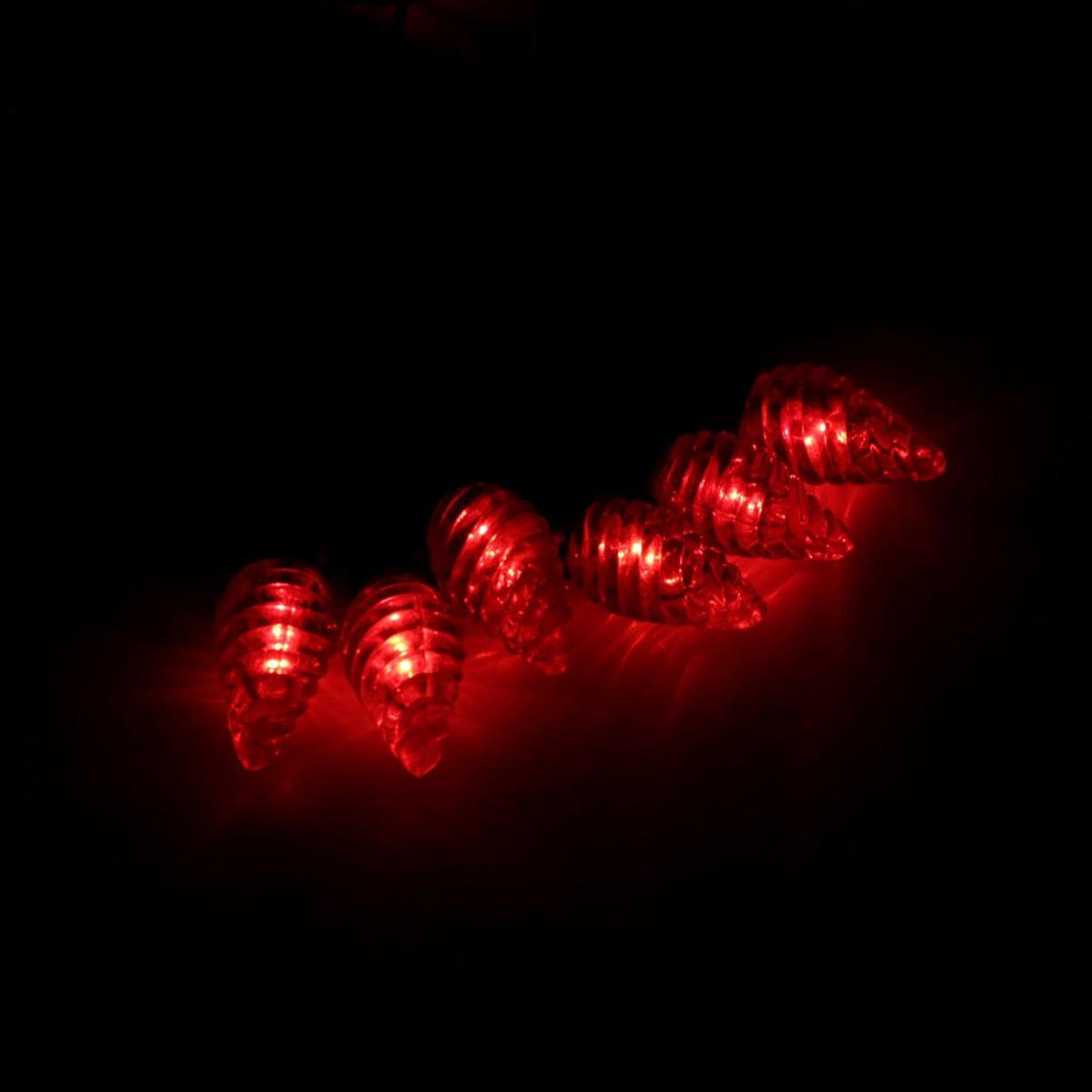 Гирлянда светодиодная Luazon Метраж. Растаявший лед, уличная с насадкой, фиксинг, 40 ламп, 220 V, 5 м, цвет: красный. 185569185569Светодиодные гирлянды, ленты и т.д. — это отличный вариант для новогоднего оформления интерьера или фасада. С их помощью помещение любого размера можно превратить в праздничный зал, а внешние элементы зданий, украшенные ими, мгновенно станут напоминать очертания сказочного дворца. Такие украшения создают ауру предвкушения чуда. Деревья, фасады, витрины, окна и арки будто специально созданы, чтобы вы украсили их светящимися нитями.
