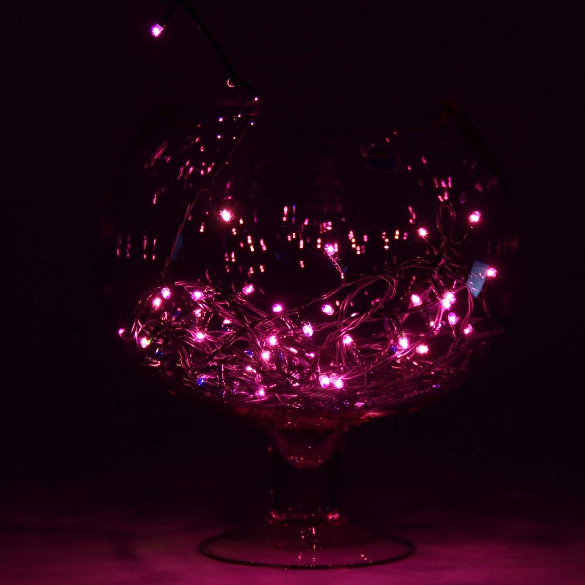 Гирлянда светодиодная Luazon Метраж, цвет: фиолетовый, 50 ламп, 8 режимов, 220 V, длина 3,5 м187154Светодиодные гирлянды и ленты — это отличный вариант для новогоднего оформления интерьера или фасада. С их помощью помещение любого размера можно превратить в праздничный зал, а внешние элементы зданий, украшенные ими, мгновенно станут напоминать очертания сказочного дворца. Такие украшения создают ауру предвкушения чуда. Деревья, фасады, витрины, окна и арки будто специально созданы, чтобы вы украсили их светящимися нитями.