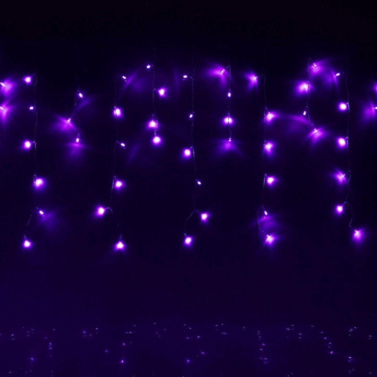 Гирлянда светодиодная Luazon Бахрома, 8 режимов, 60 ламп, 220 V, цвет: фиолетовый, 1,2 х 0,6 м. 187176187176Светодиодные гирлянды, ленты и т.д — это отличный вариант для новогоднего оформления интерьера или фасада. С их помощью помещение любого размера можно превратить в праздничный зал, а внешние элементы зданий, украшенные ими, мгновенно станут напоминать очертания сказочного дворца. Такие украшения создают ауру предвкушения чуда. Деревья, фасады, витрины, окна и арки будто специально созданы, чтобы вы украсили их светящимися нитями.