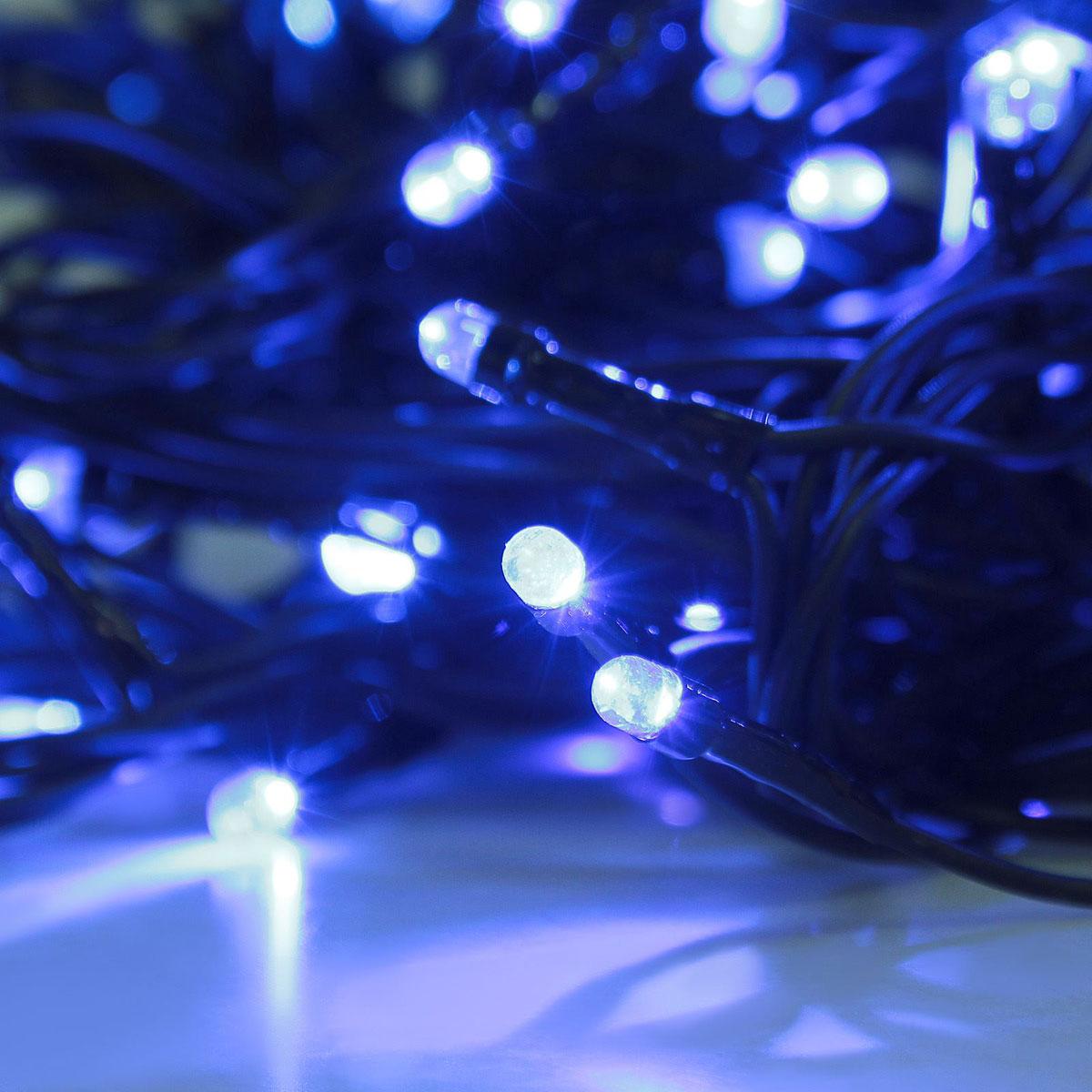 Гирлянда светодиодная Luazon Метраж, уличная, 50 ламп, 220 V, 5 м, цвет: синий. 187236187236Светодиодные гирлянды, ленты и т.д. — это отличный вариант для новогоднего оформления интерьера или фасада. С их помощью помещение любого размера можно превратить в праздничный зал, а внешние элементы зданий, украшенные ими, мгновенно станут напоминать очертания сказочного дворца. Такие украшения создают ауру предвкушения чуда. Деревья, фасады, витрины, окна и арки будто специально созданы, чтобы вы украсили их светящимися нитями.Гирлянда оснащена коннекторами УМС (универсальной монтажной системой), используйте их для соединения однотипных гирлянд. Подключите к гирлянде контроллер советующей мощности (в комплект не входит).
