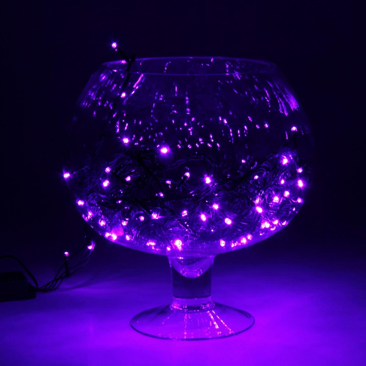 Гирлянда светодиодная Luazon Метраж, уличная, 100 ламп, 220 V, 10 м, цвет: фиолетовый. 187247187247Светодиодные гирлянды, ленты и т.д. — это отличный вариант для новогоднего оформления интерьера или фасада. С их помощью помещение любого размера можно превратить в праздничный зал, а внешние элементы зданий, украшенные ими, мгновенно станут напоминать очертания сказочного дворца. Такие украшения создают ауру предвкушения чуда. Деревья, фасады, витрины, окна и арки будто специально созданы, чтобы вы украсили их светящимися нитями.