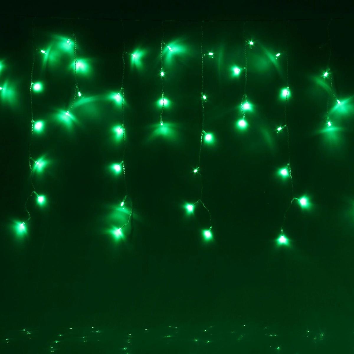 Гирлянда светодиодная Luazon Бахрома, уличная, 8 режимов, 120 ламп, 220 V, цвет: зеленый, 2 х 0,6 м. 187259187259Светодиодные гирлянды, ленты и т.д — это отличный вариант для новогоднего оформления интерьера или фасада. С их помощью помещение любого размера можно превратить в праздничный зал, а внешние элементы зданий, украшенные ими, мгновенно станут напоминать очертания сказочного дворца. Такие украшения создают ауру предвкушения чуда. Деревья, фасады, витрины, окна и арки будто специально созданы, чтобы вы украсили их светящимися нитями.