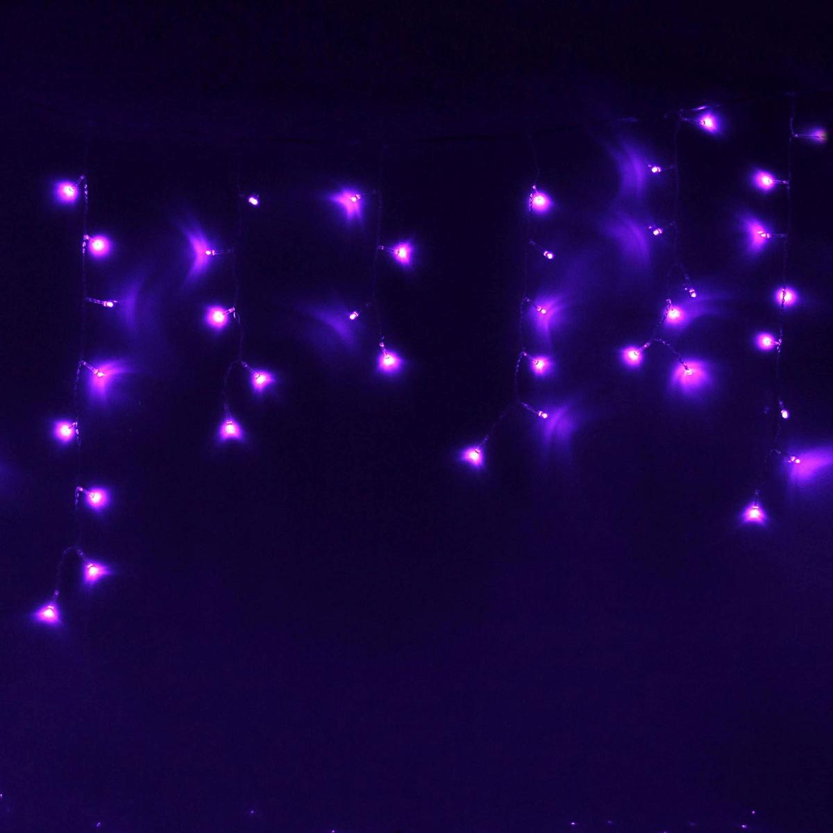 Гирлянда светодиодная Luazon Бахрома, уличная, 8 режимов, 120 ламп, 220 V, цвет: фиолетовый, 2 х 0,6 м. 187262187262Светодиодные гирлянды, ленты и т.д — это отличный вариант для новогоднего оформления интерьера или фасада. С их помощью помещение любого размера можно превратить в праздничный зал, а внешние элементы зданий, украшенные ими, мгновенно станут напоминать очертания сказочного дворца. Такие украшения создают ауру предвкушения чуда. Деревья, фасады, витрины, окна и арки будто специально созданы, чтобы вы украсили их светящимися нитями.