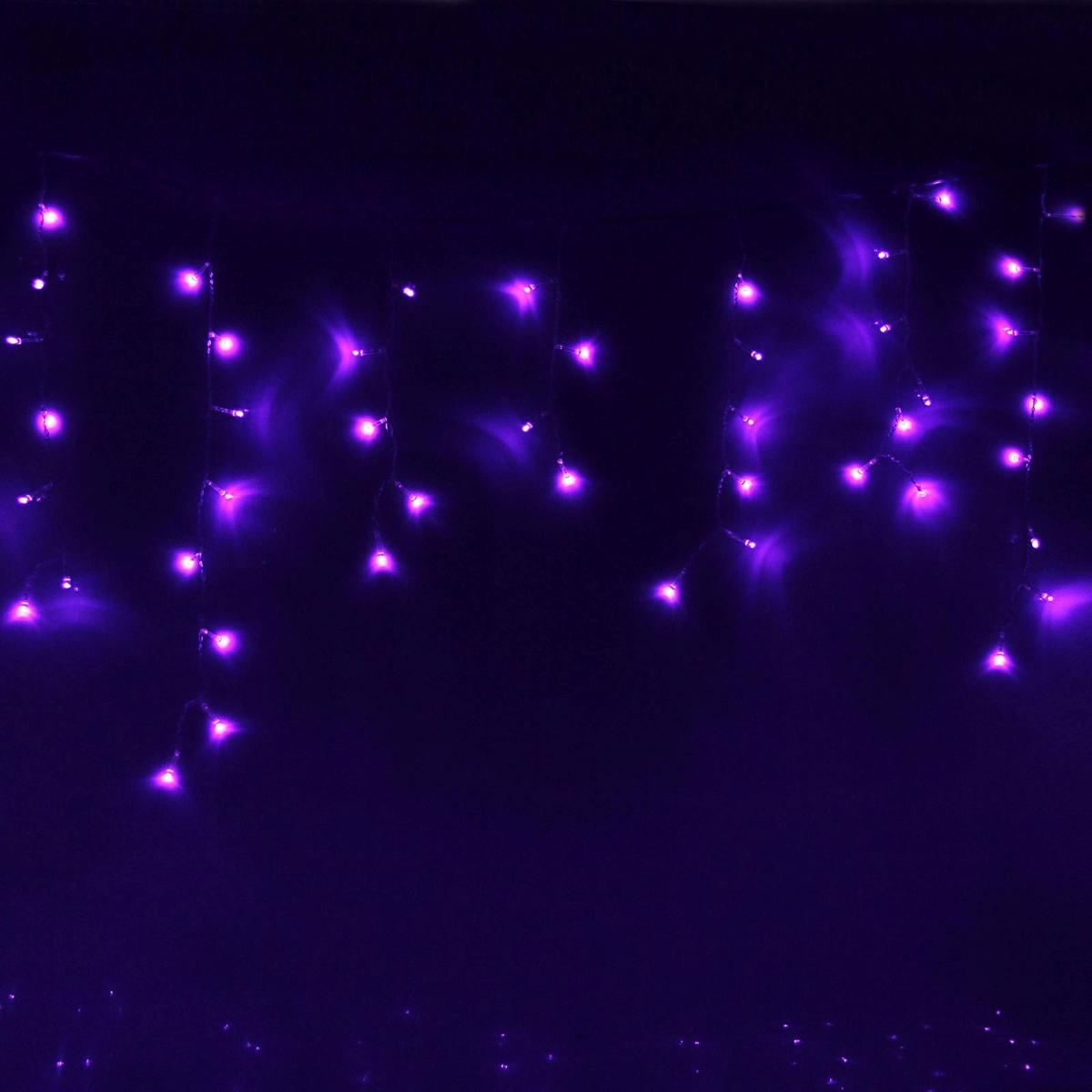 Гирлянда светодиодная Luazon Бахрома, уличная, 160 ламп, 220 V, цвет: фиолетовый, 3 х 0,6 м. 187282187282Светодиодные гирлянды, ленты и т.д — это отличный вариант для новогоднего оформления интерьера или фасада. С их помощью помещение любого размера можно превратить в праздничный зал, а внешние элементы зданий, украшенные ими, мгновенно станут напоминать очертания сказочного дворца. Такие украшения создают ауру предвкушения чуда. Деревья, фасады, витрины, окна и арки будто специально созданы, чтобы вы украсили их светящимися нитями.