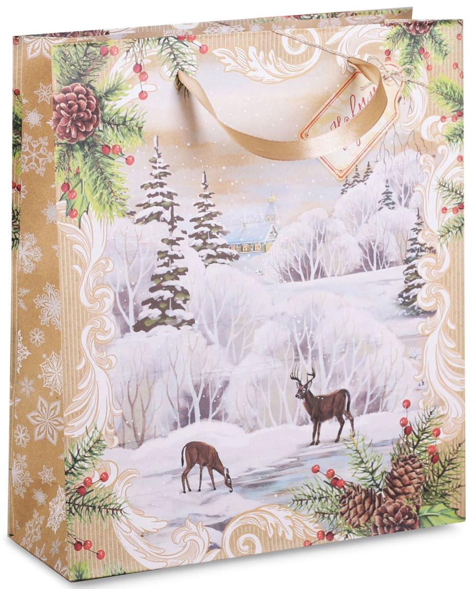 Пакет подарочный Дарите Счастье Волшебного Нового года!, вертикальный, 18 х 23 х 8 см2104Привлекательная упаковка послужит достойным украшением любого, даже самого скромного подарка. Она поможет создать интригу и продлить время предвкушения чуда - момента, когда презент окажется в руках адресата.Пакет имеет яркий, оригинальный дизайн, который обязательно понравится. Изделие выполнено из плотной крафтовой бумаги, благодаря чему обеспечит надёжную защиту содержимого.