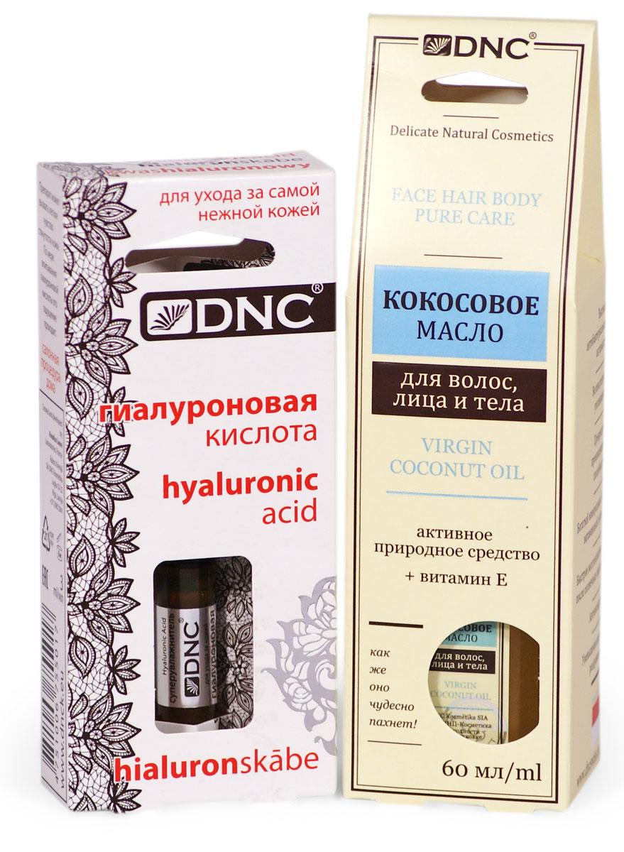 DNC Набор: Кокосовое масло, 60 мл, Гиалуроновая кислота, 3 мл
