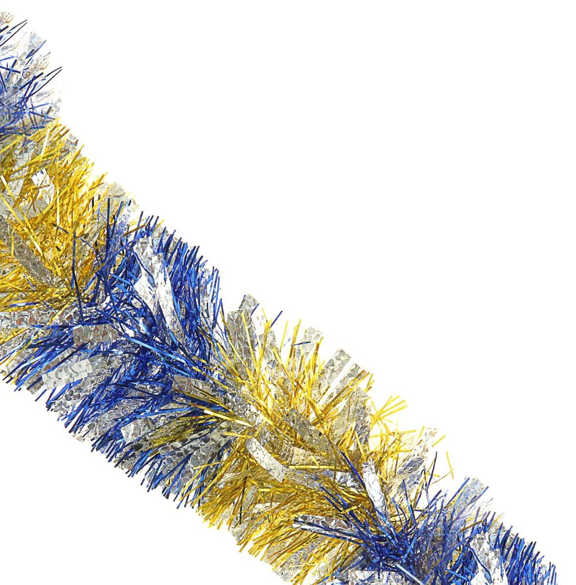 Мишура новогодняя Sima-land, цвет: малиновый, серебристый, диаметр 9 см, длина 2 м. 452424452424