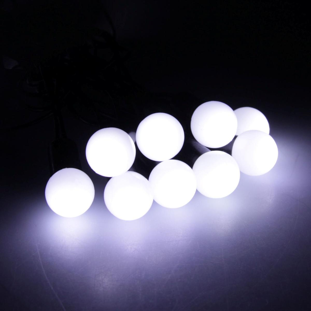 Гирлянда светодиодная Luazon Метраж. Шарики, уличная с насадкой, 8 режимов, 50 ламп, 220 V, 6 м, цвет: белый. 538717538717Светодиодные гирлянды, ленты и т.д. — это отличный вариант для новогоднего оформления интерьера или фасада. С их помощью помещение любого размера можно превратить в праздничный зал, а внешние элементы зданий, украшенные ими, мгновенно станут напоминать очертания сказочного дворца. Такие украшения создают ауру предвкушения чуда. Деревья, фасады, витрины, окна и арки будто специально созданы, чтобы вы украсили их светящимися нитями.