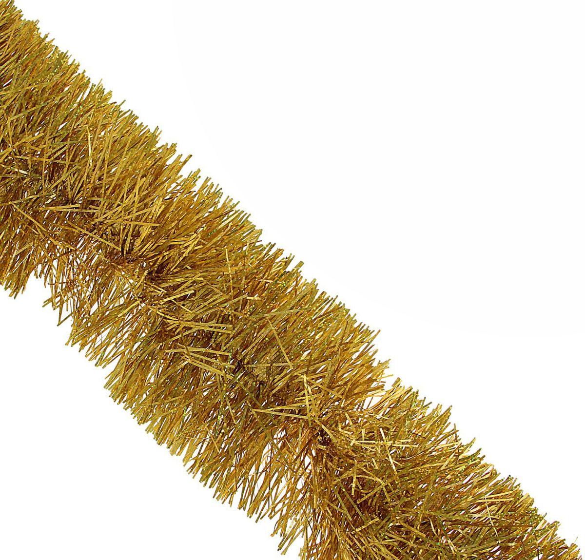 Мишура новогодняя Sima-land, цвет: золотистый, диаметр 12 см, длина 2 м. 702584702584Мишура новогодняя Sima-land, выполненная из фольги, поможет вам украсить свой дом к предстоящим праздникам. Мишура армирована, то есть имеет проволоку внутри и способна сохранять приданную ей форму. Новогодняя елка с таким украшением станет еще наряднее. Новогодней мишурой можно украсить все, что угодно - елку, квартиру, дачу, офис - как внутри, так и снаружи. Можно сложить новогодние поздравления, буквы и цифры, мишурой можно украсить и дополнить гирлянды, можно выделить дверные колонны, оплести дверные проемы.