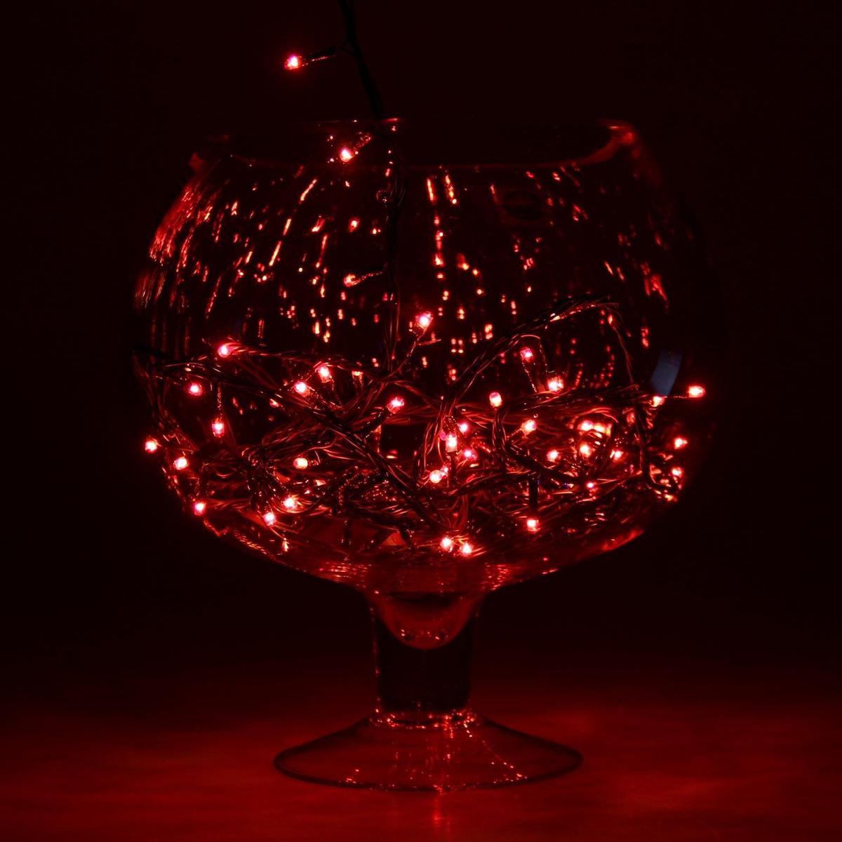 Гирлянда светодиодная Sima-land Метраж, цвет: красный, 100 ламп, 8 режимов, 220 V, длина 4,5 м