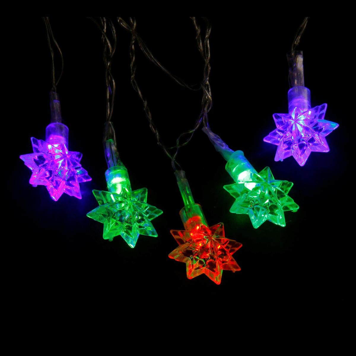 Гирлянда светодиодная Luazon Метраж. Звездочки, с насадкой, моргает, 20 ламп, 220 V, 5 м, цвет: мультиколор. 703320883972Светодиодные гирлянды, ленты и т.д. — это отличный вариант для новогоднего оформления интерьера или фасада. С их помощью помещение любого размера можно превратить в праздничный зал, а внешние элементы зданий, украшенные ими, мгновенно станут напоминать очертания сказочного дворца. Такие украшения создают ауру предвкушения чуда. Деревья, фасады, витрины, окна и арки будто специально созданы, чтобы вы украсили их светящимися нитями.