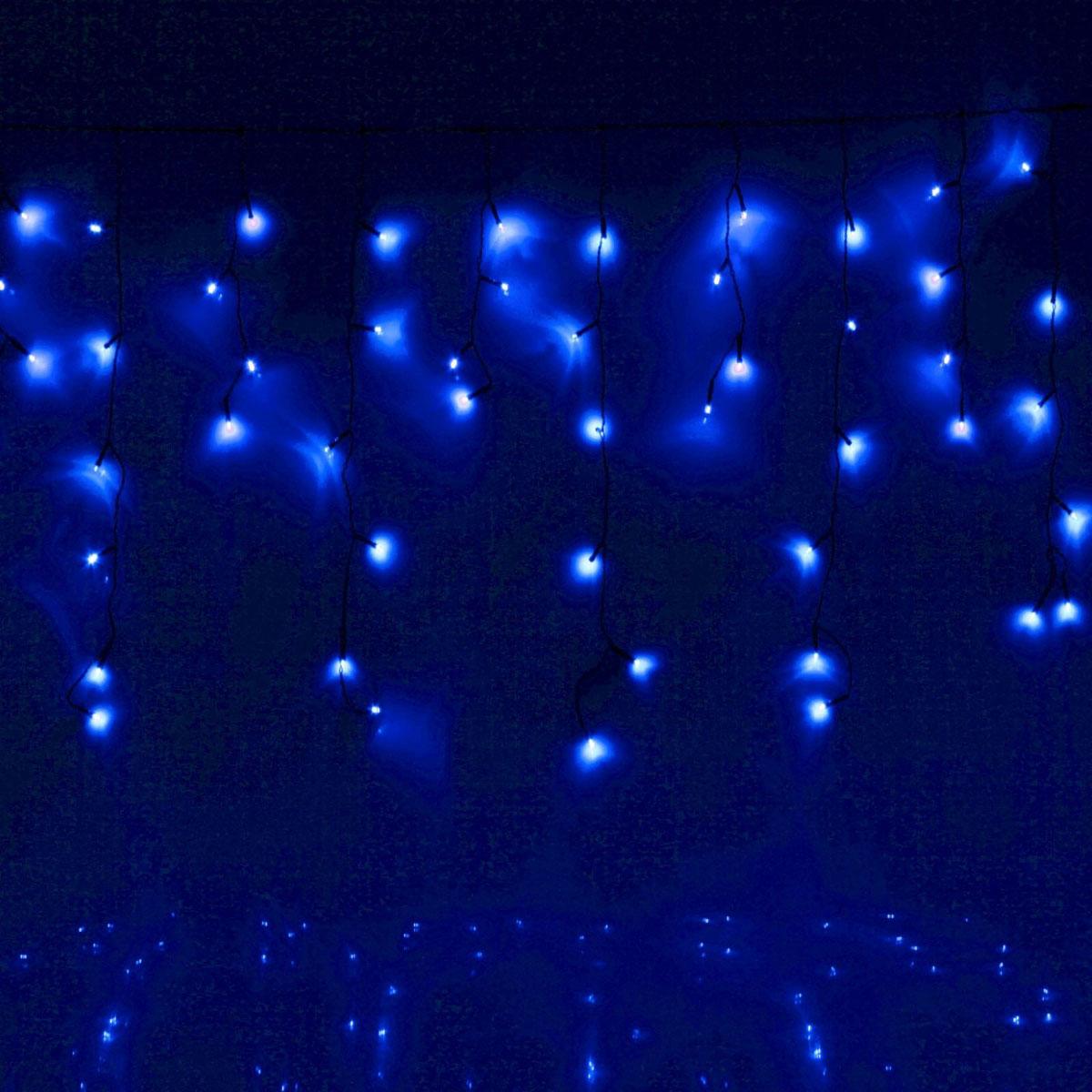 Гирлянда светодиодная Luazon Бахрома, уличная, 8 режимов, 60 ламп, 220V, цвет: синий, 1 х 0,6 м. 705907705907Светодиодные гирлянды, ленты и т.д — это отличный вариант для новогоднего оформления интерьера или фасада. С их помощью помещение любого размера можно превратить в праздничный зал, а внешние элементы зданий, украшенные ими, мгновенно станут напоминать очертания сказочного дворца. Такие украшения создают ауру предвкушения чуда. Деревья, фасады, витрины, окна и арки будто специально созданы, чтобы вы украсили их светящимися нитями.