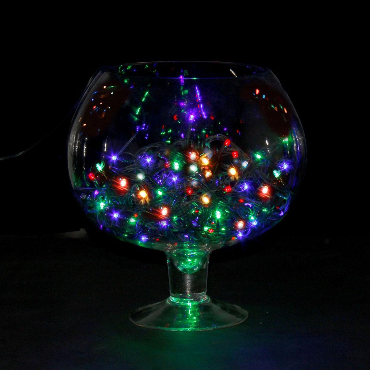 Гирлянда светодиодная Luazon Метраж, 8 режимов, 100 ламп, 220 V, 9 м, цвет: мультиколор. 705983678895Светодиодные гирлянды, ленты и т.д. — это отличный вариант для новогоднего оформления интерьера или фасада. С их помощью помещение любого размера можно превратить в праздничный зал, а внешние элементы зданий, украшенные ими, мгновенно станут напоминать очертания сказочного дворца. Такие украшения создают ауру предвкушения чуда. Деревья, фасады, витрины, окна и арки будто специально созданы, чтобы вы украсили их светящимися нитями.