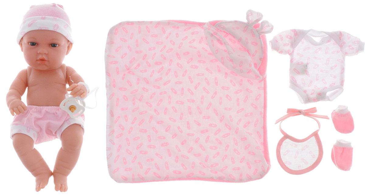 Arias Пупс Elegance с пинетками одеяльцем цвет одежды розовый arias пупс цвет платья белый розовый 42 см т59289