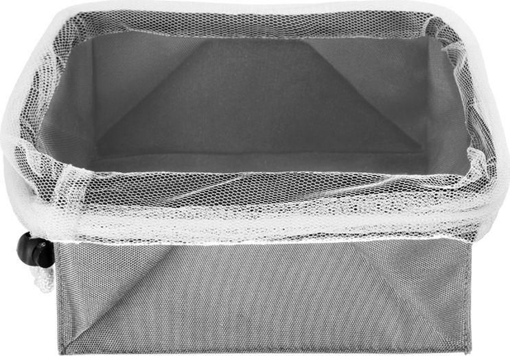 Сетка для хранения продуктов идеально подходит для хранения овощей (чеснока, лука, картофеля), а также для фруктов и хлеба. Изготовлена из дышащей ткани, стягивается сетчатым шнурком и фиксируется пластиковым зажимом. Сетку можно использовать как корзину или подвесить в удобном для вас месте. Сетка легко складывается, стирается. Материал: полиэфир 90% и полиамид 10%. Максимальный вес с продуктами: 4 кг.