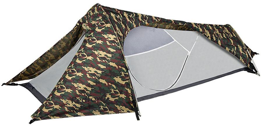 Палатка Red Fox Sniper Fox, цвет: камуфляж61-035-5900Очень легкая, прочная ветроустойчивая палатка для треккинга. Модель предназначена для использования одним человеком. Легко устанавливается благодаря двум стойкам высокотехнологичной конструкции каркаса DAС. Небольшая площадь дна позволяет установить палатку в любом месте. В модели продуманы два входа c противомоскитными сетками, вентиляционные окна на молнии.- легко устанавливается одним человеком - наличие штормовых оттяжек - проклеенные швы - удобные внутренние карманы для вещей первой необходимости - полиуретановое покрытие ткани, нанесенное на внутреннюю сторону, для водонепроницаемости - противомоскитная стека - наличие вентиляции- размеры: 290х120х80 см- габариты в сложенном виде: 42x14x14 см- тент: Polyester 190T W/R PU 7000- палатка: Polyester 190T W/R BR - стойки: Алюминий 7001-Т6, d 8.5- дно: Nylon 190T W/R PU 9000