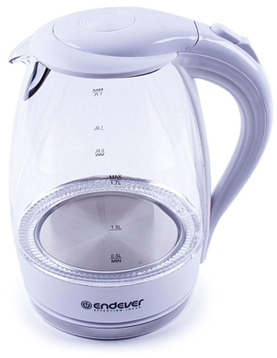 Endever KR-324G, White электрический чайникKR-324 GЭлектрический чайник Endever KR-324G прост в управлении и долговечен в использовании. Изготовлен из высококачественных материалов. Мощность 2200 Вт вскипятит 1,7 литра воды в считанные минуты. Беспроводное соединение позволяет вращать чайник на подставке на 360°. Для обеспечения безопасности при повседневном использовании предусмотрены функция автовыключения, а также защита от включения при отсутствии воды.