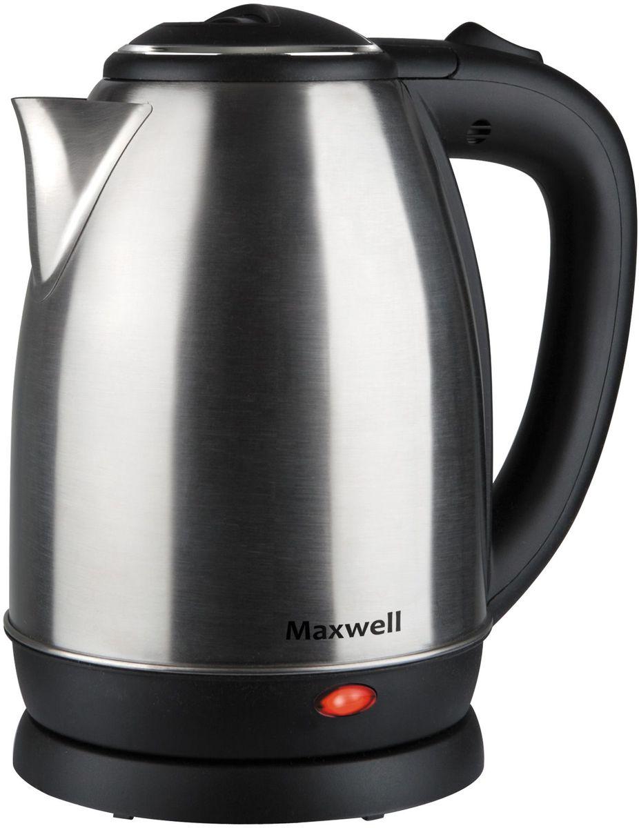 Maxwell MW-1081(ST), Gray Metallic электрический чайникMW-1081(ST)Электрический чайник Maxwell MW-1081(ST) прост в управлении и долговечен в использовании. Изготовлен из высококачественных материалов. Мощность 1850 Вт вскипятит 1,8 литра воды в считанные минуты. Беспроводное соединение позволяет вращать чайник на подставке на 360°. Для обеспечения безопасности при повседневном использовании предусмотрены функция автовыключения, а также защита от включения при отсутствии воды.