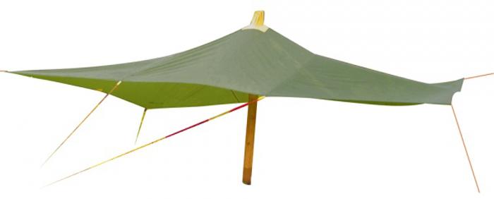 Тент Red Fox, цвет: зеленый, 3 х 3 м61-016-5900Надежный тент для защиты от непогоды в кемпинге. Выполнен из прочного материала, который выдерживаетнагрузки от давления воды и не растягивается при намокании. Дополнительно усилены углы и места крепленияоттяжек. Тент можно подвешивать любым образом, а также устанавливать на центральную опору благодаряпродуманному конструкционному отверстию.- Размер: 3х3 м - Материал: Polyester 190T W/R PU 1500
